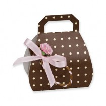 Brown Spotted Handbag Gift Box