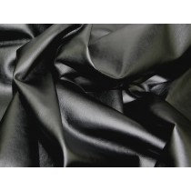 Soft PVC Leathercloth Faux Leather Fabric - Black
