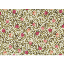 Cotton by Stof - Leaves & Roses - Ivory