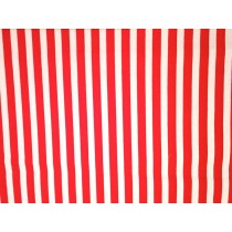Cotton Poplin - Stripes - Red/White