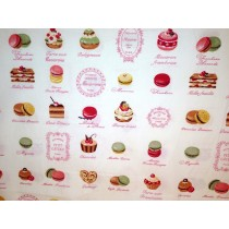 Cotton Poplin - French Patisserie - Ivory
