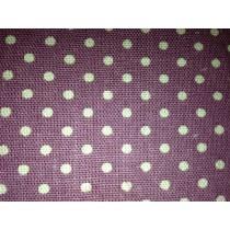 Cotton Canvas - Polka Dot - Lavender