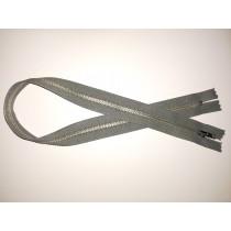 "Metal Zip Fastener - Grey - 20"""