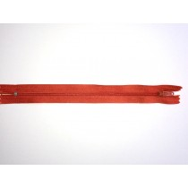 Nylon Zip Fastener - Terracotta - 8""