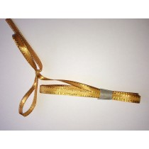 Satin Ribbon Golden Edge - Gold