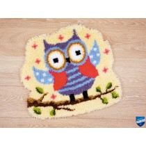 Vervaco - Latch Hook Shaped Rug - Funny Owlet on a branch