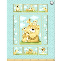 Cotton by Susybee - Lyon, the Lion Panel