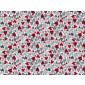 Fat Quarter - Cotton by Stof - Red and Grey Lovehearts