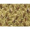 Fat Quarter - Cotton by Hoffman - Gold Metallic Pinecones