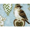 Fat Quarter - Cotton by Hoffman - Birds, Ornaments and Pine Boughs