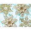Cotton by Hoffman - Metallic Snowflakes