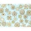 Fat Quarter - Cotton by Hoffman - Metallic Snowflakes