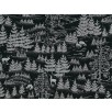 Fat Quarter - Cotton by Hoffman - Silver Metallic Forest Silhouette