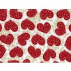 Fat Quarter - Cotton by Hoffman - Red Hearts