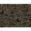 Fat Quarter - Cotton by Hoffman - Metallic Hearts