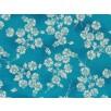 Fat Quarter - Cotton by Hoffman - Silver Metallic Flowers