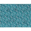 Fat Quarter - Cotton by Hoffman - Silver Metallic Floral Print