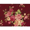 Fat Quarter - Cotton by Stof - Large Roses - Wine