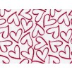 Fat Quarter - Cotton by Stof - Red Lovehearts