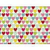 Fat Quarter - Cotton by Stof - Multi Coloured Lovehearts