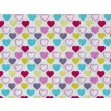 Cotton by Stof - Mini Lovehearts Multicoloured