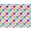 Fat Quarter - Cotton by Stof - Mini Lovehearts Multicoloured