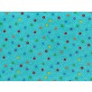 Cotton by Stof - Multicoloured Circles on Teal