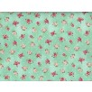 Cotton by Quilt Gate - Small Roses on Aqua
