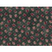 Fat Quarter - Cotton by Quilt Gate - Small Roses on Black