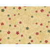 Fat Quarter - Cotton by Stof - Flowers and Twirls - Beige
