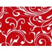 Cotton by Henry Glass - Holiday Frost  - White Twirls on Red