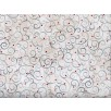 Fat Quarter - Cotton by Quilting Treasures - Scroll White