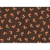 Cotton by Stof - Foxes - Minimized - Brown