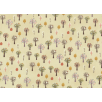 Fat Quarter - Cotton by Stof - Trees - Cream