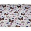 Fat Quarter - Cotton Canvas - Vintage Butterflies - Cream
