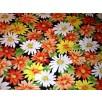 Cotton Poplin - Flowers - Orange