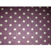 Cotton Canvas - Polka Dot - Lavender