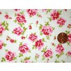 Cotton Poplin - Flowers - Mint