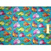 Polycotton - Fishes - Turquoise