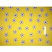 Polycotton - Footballs - Yellow