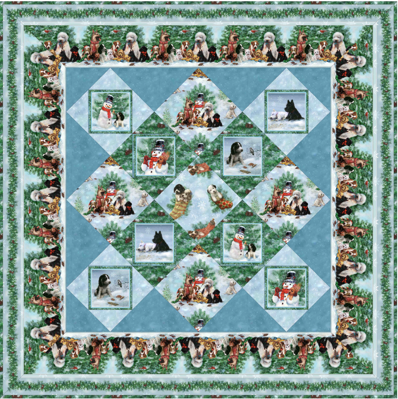 Holiday Pups Quilt
